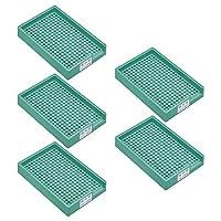 uxcell ネジトレー ネジホルダー 防静止 硬プラスチック製 3.0mm-3.5mm グリーン 5個入
