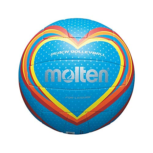 MOLTEN Volleyball - Balón de voleibol para exterior, color azul/rojo/naranja, talla 5