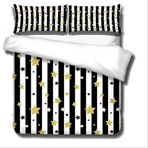 GSYHZL duvet cover king size,3D striped plaid king bed bedding set, printed duvet cover and pillowcase for boys and girls student apartments-TO_180*220cm(3pcs)