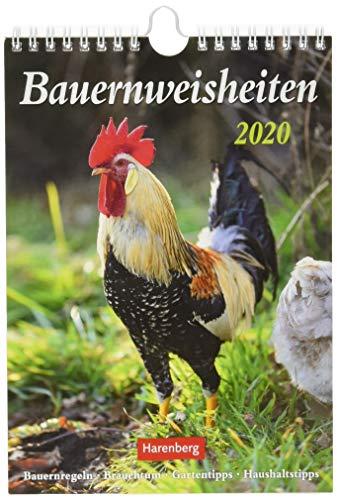 Bauernweisheiten Wochenkalender. Wandkalender 2020. Wochenkalendarium. Spiralbindung. Format 16,5 x 23 cm