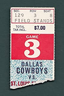 Dallas Cowboys vs. St. Louis Cardinals Ticket Stub 10/4/1970 128450