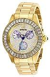 Invicta 28449 Angel Damen Uhr Edelstahl Quarz goldenen Zifferblat