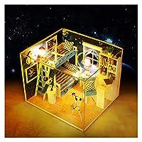 Duo Mei Qi 人形ハウス家具DIYミニチュアミニチュア3 D木の人形家、ダストカバー、誕生日プレゼントの手作りの子供のおもちゃ (色 : Q005)