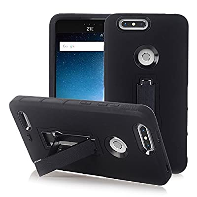 ZTE Zmax Pro 2 Case, ZTE Blade Z MAX Case, ZTE Sequoia Case, MUCK [Shock-Absorption] Heavy Duty Hybrid Dual Layer Silicone Plastic Protective Case with Kickstand for ZTE Z982