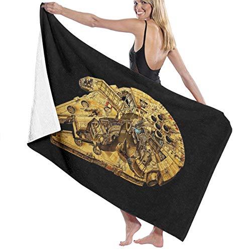 Star Wars Badetuch, super weich, schnell trocknend und sehr saugfähig, hochwertiges Handtuch, 81,3 x 132 cm, Badetuch Zubehör Pool-Handtuch.