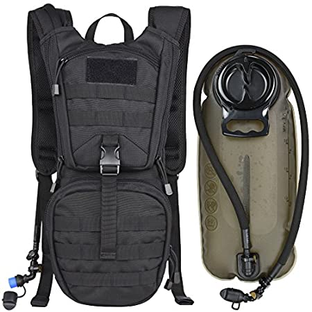 MARCHWAY Tactical Molle Hydration Pack Backpack with Water Bladder