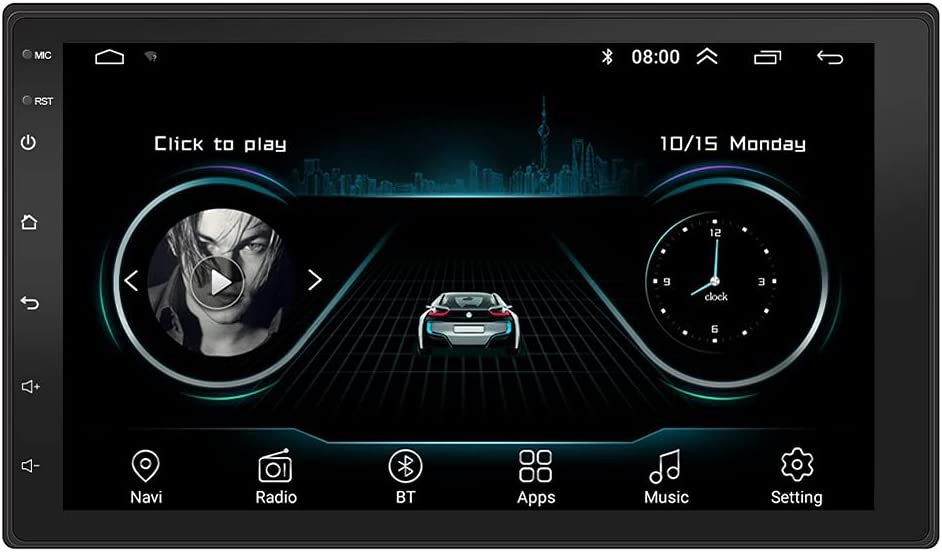 iSinofc Car Stereo Double Din, 7 inch Android 10.0 Car Stereo Multimedia Video Player Bluetooth WiFi USB GPS Navigation in Dash Head Unit FM Radio Receiver 2GB RAM 16GB ROM