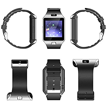 VIVA TECH DZ09 Smart Watch Latest Card Bluetooth Support Android Apple System, Watch Mobile Phone Android Smart Mobile Phone Watch (Silver)