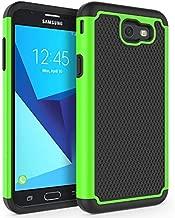 SYONER Shockproof Phone Case Cover for Samsung Galaxy J7 V 2017 (1st Gen)/ Galaxy J7 2017 / Galaxy J7 Prime/Galaxy J7 Perx/Galaxy J7 Sky Pro/Galaxy Halo[Green]