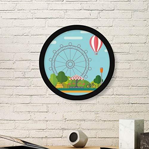 DIYthinker Ferris wiel ballon pretpark ronde fotolijst kunst afdrukken van schilderijen huis muursticker cadeau