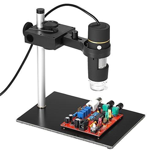 KKmoon Microscopio Digitale USB con Ingrandimento 1000X con Funzione OTG Lente di Ingrandimento con Lente di Ingrandimento a 8 LED con Supporto