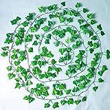 200 cm plantas artificiales enredadera hoja verde hiedra vid para el hogar boda decoración bricolaje colgante guirnalda flores artificiales