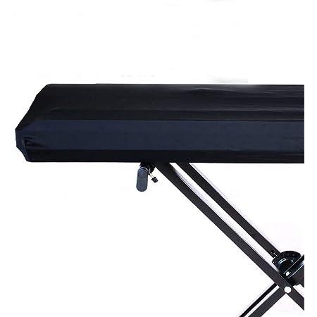 Funda universal para teclado de piano electrónico de 61/73/76/88 teclas, elástica, ajustable, a prueba de polvo, con cordón elástico y cierre de ...