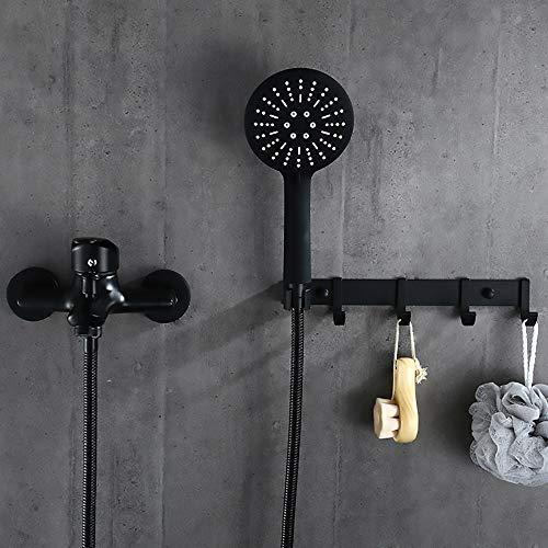 ZHNINGUR Europeo negro grifo de la ducha supercharged baño ducha conjunto de acero inoxidable hotel antiguo ducha conjunto
