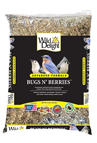Wild Delight 099127 Bugs N' Berries Wild Bird Food, 4.5 Lb