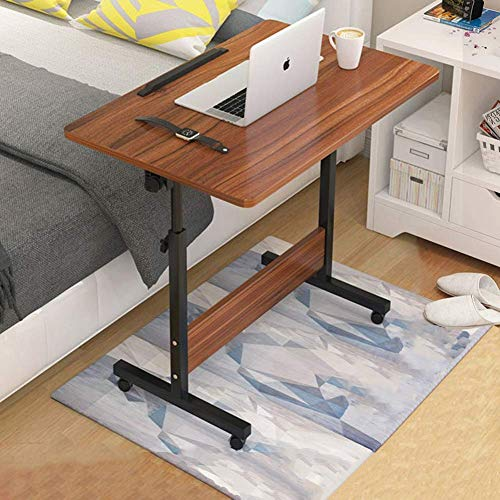 GCP Days table above bed Table above bed with wheels, height adjustable, portable and sturdy laptop desk with wheels, bed and chair fully adjustable (color: ebony color)
