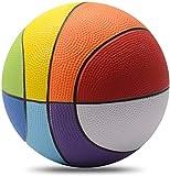 Chastep 20,3 cm Schaumstoff-Sportball, Regenbogen-Schwamm-Basketball, sicher und weich, für drinnen und draußen, gutes Geschenk für Kinder