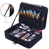 Winwinfly Makeup Bag (2 Layer) with Adjustable Dividers, Makeup Organizer Bag, Multipurpose Cosmetic Organizer