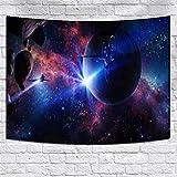DHHY Tapiz de Poliéster de Impresión 3D, Tapiz de Tapiz de Impresión Digital de La Serie de Cielo Estrellado, Tapiz de decoración del Hogar del Planeta