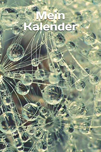 Mein Kalender: Wassertropfen-Regentropfen-Tropfen-Pearls Kalender/Planer immerwährend 370 Seiten zum selbst ausfüllen - Ewiger Kalender 1 Tag/Seite ohne Jahresangabe (German Edition)