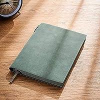 オフィスのノート/日記 シンプルなノートブックビジネス肥厚A5ソフトレザー会議ノートブックオフィスハイエンドワークノートレトロな学生アート、ファイン学習日記 (色 : Gray)
