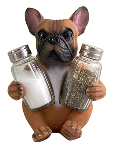 French Bulldog Salt and Pepper Holder (Shakers Included)