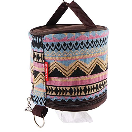 Congchuaty Outdoor Camp National Style Folding Toilet Paper Tissue Case Holder Storage Bag for Camping National Style Tissue Case Outdoor Toilet Paper Holder Napkin Storage Bag Box