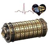 Decdeal Da Vinci Code Mini Cryptex Schlösser Metall Toys Schmuck Versteck Hochzeitsgeschenke...