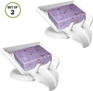 Evelots Soap Dish/Holder-Waterfall-Soap Saver/Dryer-Drain-No Mushy Soap, Set/2