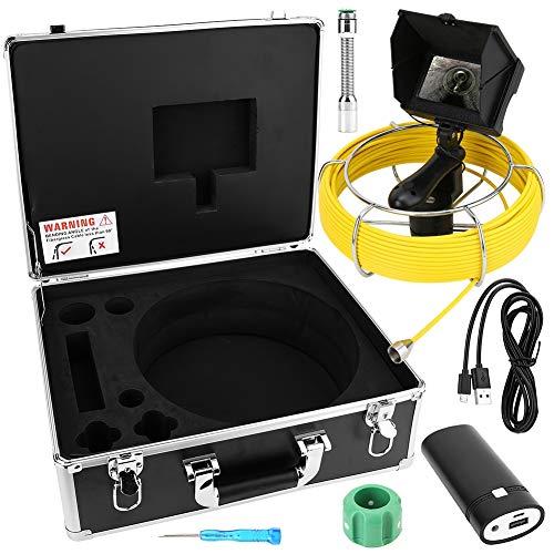 Handheld camera voor inspectie van pijpleidingen, mini-riool industriële endoscoop met monitor (30 m)