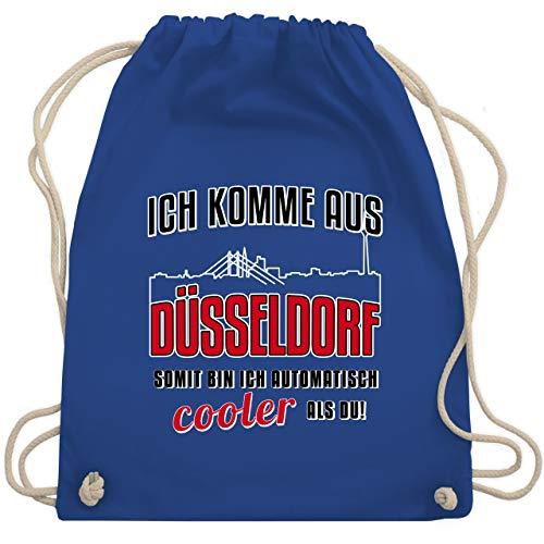 Städte - Ich komme aus Düsseldorf - Unisize - Royalblau - baumwoll turnbeutel - WM110 - Turnbeutel und Stoffbeutel aus Baumwolle