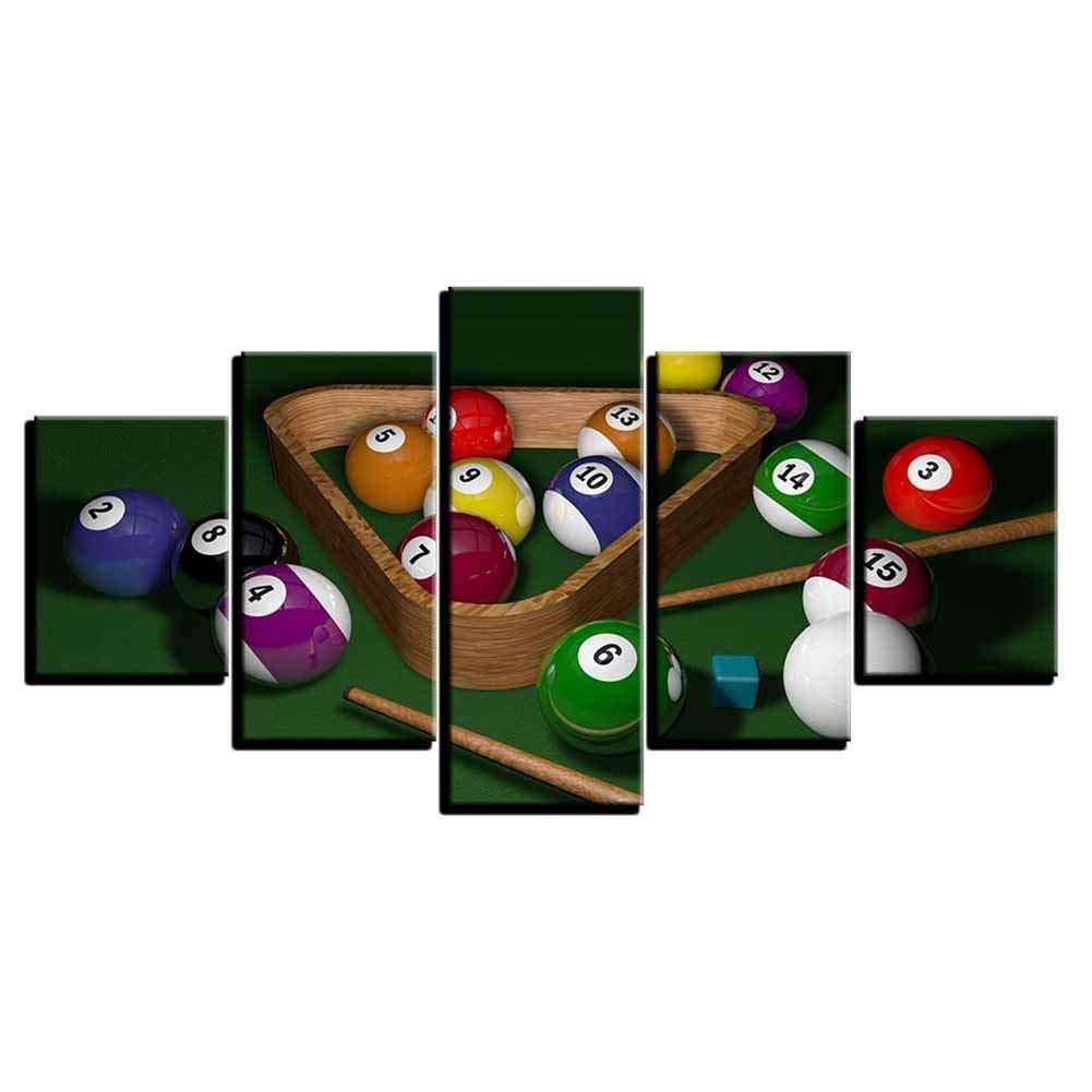 Billar Estilo simple Mural- División Partes 5 Paneles / Set- Alta definición Lona Decorativo Póster para Sala de billar- Cepillo de aire Técnica- No incluye marco,20*35CM*2+20*45CM*2+20*55CM*1: Amazon.es: Hogar