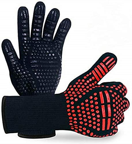 BBQ Gloves 1472 Extreme Heat Resistant Protective Heat Resistant Cooking Gloves Food Grade Kitchen product image