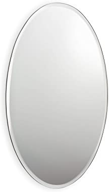 Quality Mirrors 21-PARLOUR/527 Large Oval Mirror with Bevel