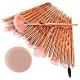 99native 20 Pcs/Set Maquillage Brush Set Makeup Brushes Kit Outils Maquillage Professionnel Maquillage Pinceaux Yeux Pinceau pour Les +1Pc Houppettes à Poudre (C)