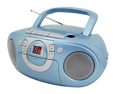 Soundmaster SCD5100BL Radio-Kassettenspieler mit CD-Spieler in blau