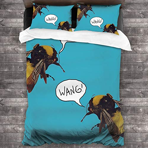 Eppedtul Golf Wang Scum Fuck Bees Bedding Duvet Cover 3 Piece Set -Comforter Cover with Zipper Closure and 2 Pillow 86