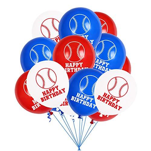 Globos de decoración de cumpleaños, decoración de fiesta de feliz cumpleaños, globos de látex, globos de cumpleaños, cumpleaños de boda, decoración de fiesta (béisbol)