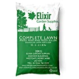 Elixir Gardens | COMPLETE LAWN | Weed, Feed and Moss Killer/Lawn Green Up | Treats up to 625m² | 20kg