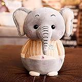FGBV Elefant-Plüsch-Spielzeug-Rag-Puppe-Puppe beruhigende Puppe Nette Lange Nase Baby Elefantkissen 25cm Grausize: 25cmcolour: Bohnensandpulver.(Farbe: grau Größe: 25cm) Manmiao