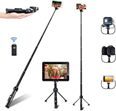 Selfie Stick, Professional 45-Inch Selfie Stick Tripod, Extendable Selfie Stick with Wireless Remote and Tripod Stand for ...