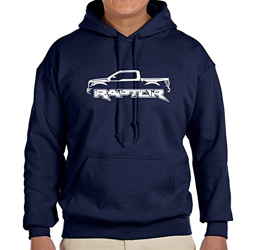 2017 Ford Raptor Raptor F150 Truck Classic Outline Design Hoodie Sweatshirt XL navy blue