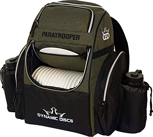 Dynamic Discs Olive Paratrooper Disc Golf Bag   Frisbee Golf Bag with 18+ Disc Capacity   Extra Storage Pockets   Durable Construction