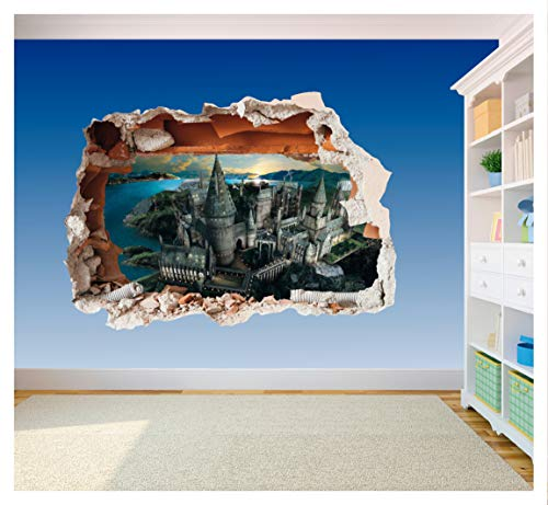 Hogwarts Castle Hole in Wall - Harry Potter 3D Art Printed Vinyl Sticker Decal (Extra Large 800 x 575mm)
