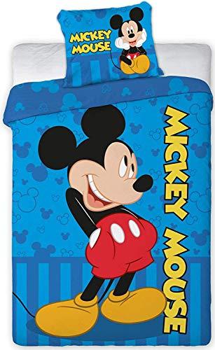 KK Disney Mickey Mouse Parure de lit pour bébé 40 x 60 cm + 100 x 135 cm
