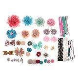 Hellery Shabby Chic Baby Duschstationen DIY Stirnband Haarclip Hut Making Kits - Multi #3