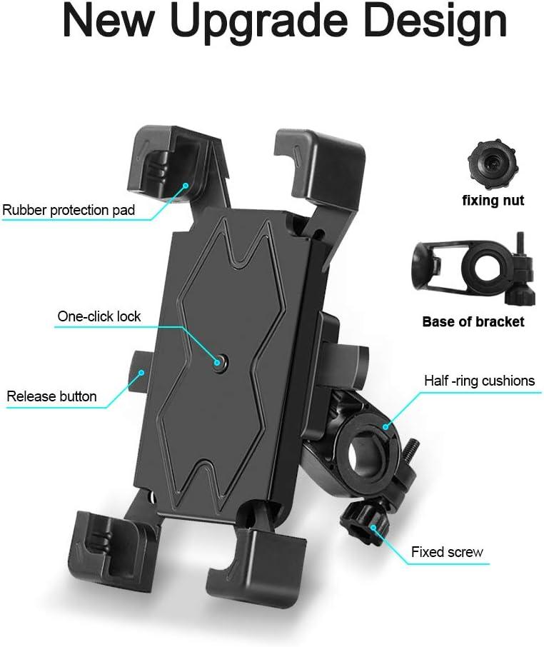 A-VIDET Support de t/él/éphone portable pour moto X 7 Xs Max S8 Rotation /à 360 /° pour iPhone 11 Pro Max 4,5 /à 6,5 pouces 6S XR autres smartphones Samsung S10 S9 8