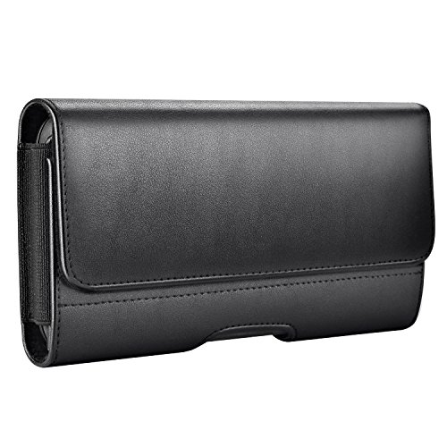 Mopaclle Apple iphone 8 Plus Funda para Cinturón , Ranuras para Tarjetas con Broche Magnético para iPhone XS Max, iphone 8 Plus, iphone 7 Plus ,iphone 6 6s Plus, Samsung Galaxy S8 Plus S9 Plus-Negro