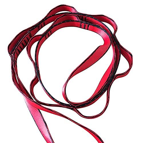 PPLAX Yoga Gürtel 1 STÜCKE Multifunktions Yoga-Gürtel Stretch Daisy-Ketten-Verlängerungsriemen dauerhaft einstellbar für Klettern/Swing/Yoga Hängematte im Freien (Color : Red)