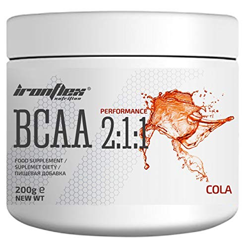 Iron Flex BCAA 2-1-1-1 Pack - Branched Chain Amino Acids in Powder - Muscle Regeneration - Anticatabolic (Cola, 200g)